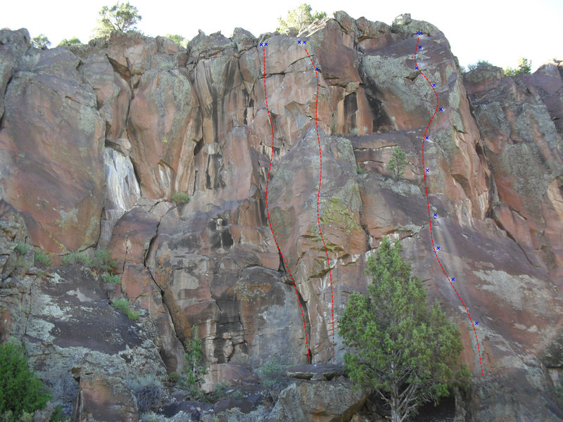 Rock Climbing Photo: Organic orgasm is the rightmost route in this beta...