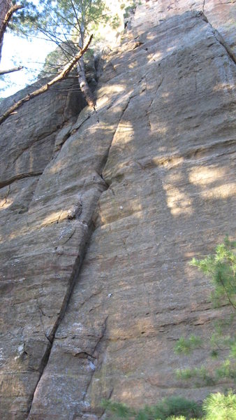 Rock Climbing Photo: My first lead climb! Oh and did I take a good whip...