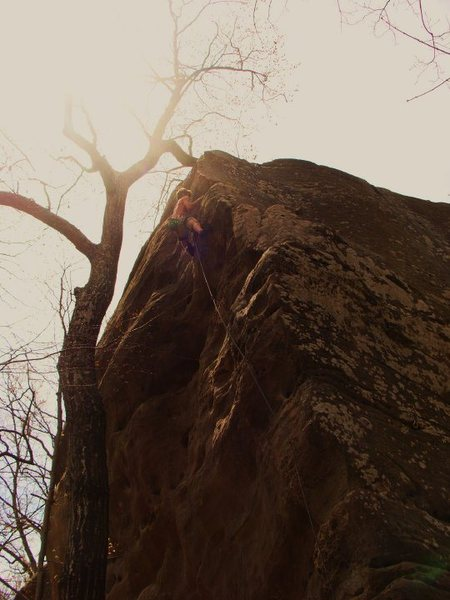 Rock Climbing Photo: The finish of Piss Ant, great climb with good pict...