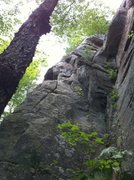 Rock Climbing Photo: Hoedown crack. Below the crack is the bouldery sta...