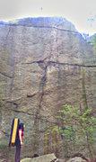 Rock Climbing Photo: Center Crack