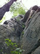 Rock Climbing Photo: hoedown on the left, Dig it 5.10+ the corner betwe...