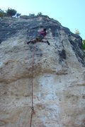 Rock Climbing Photo: Jared flashing Breast Pump 5.11b