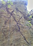 Rock Climbing Photo: 2 piton center right climb to left,center right cr...