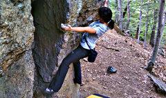 Rock Climbing Photo: Laddins Traverse  Gina Musilli