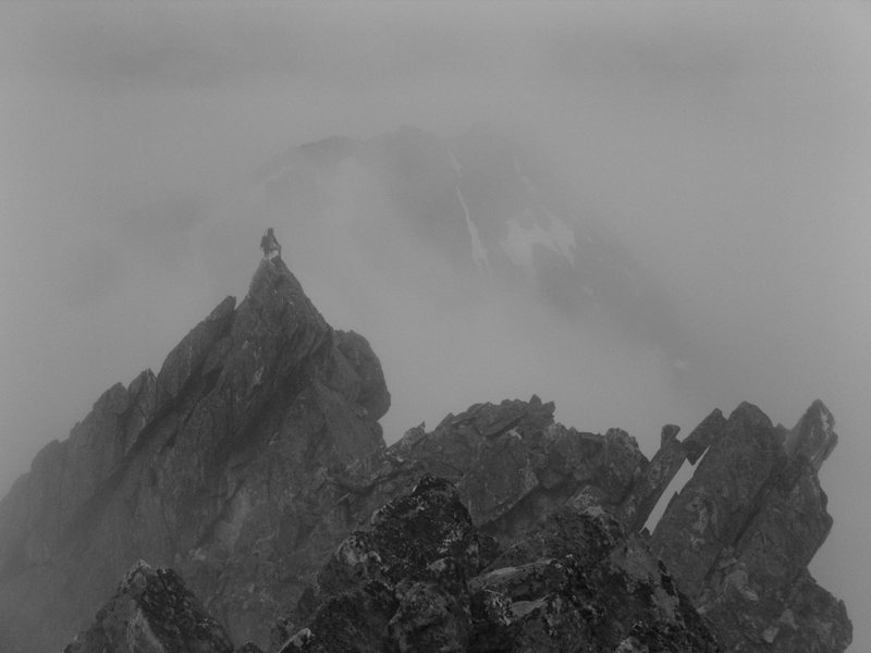 Rock Climbing Photo: Kurt Prond atop one of the spires near the summit....