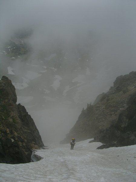 Rock Climbing Photo: Matt Tyers ascending the southwest couloir