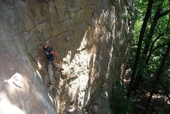 Rock Climbing Photo: PW leading Cashmere 5.7