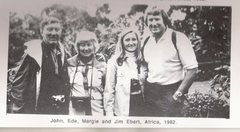 Rock Climbing Photo: Jim with his wife and parents in Africa, 1982.