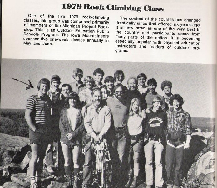 A typical toprope climbing group at Devils Lake.  I think the number was near 10,000 climbers who have attended this class over some 20+ years.