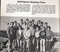 Rock Climbing Photo: A typical toprope climbing group at Devils Lake.  ...