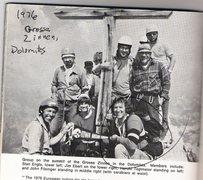 Rock Climbing Photo: Jim Ebert with a group on a summit in the Dolomite...