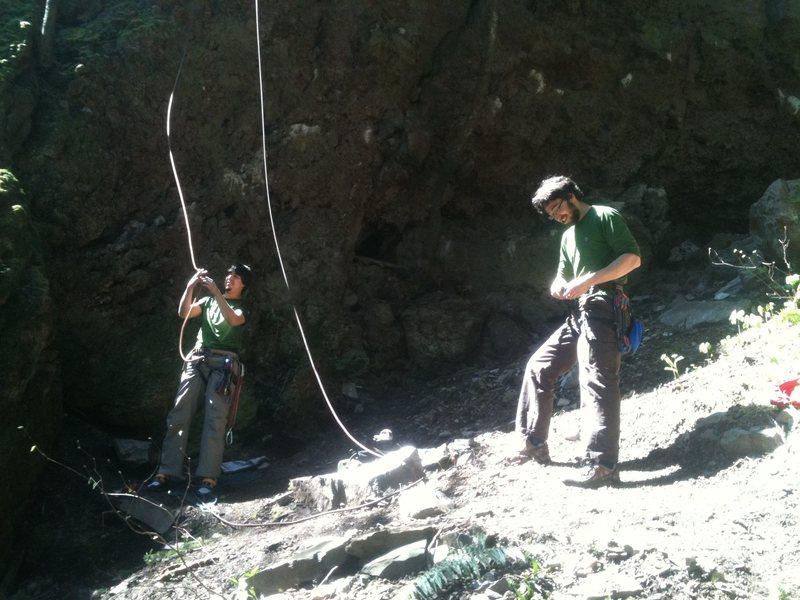 Rock Climbing Photo: my other homies, climbing no nuts.