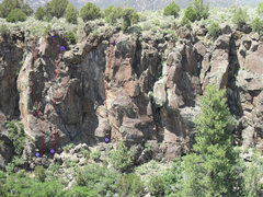 Rock Climbing Photo: Beta photo of the leftmost side of this area.  The...