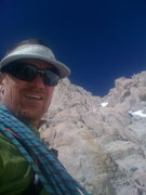 Rock Climbing Photo: halfway up east butt mt whitney (solo)