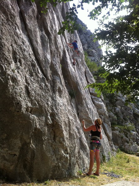 sport climbing in Omis