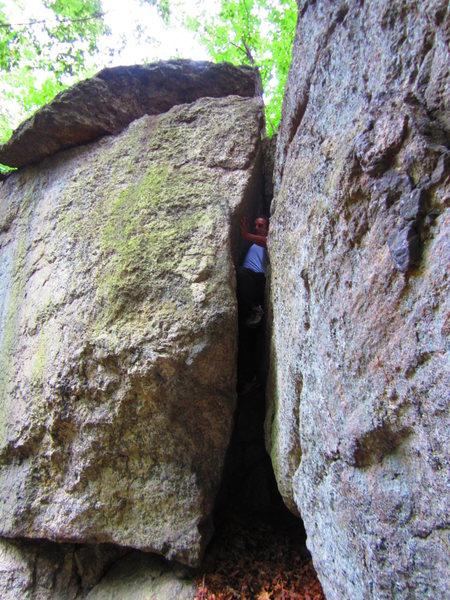Rock Climbing Photo: Laddins chimney