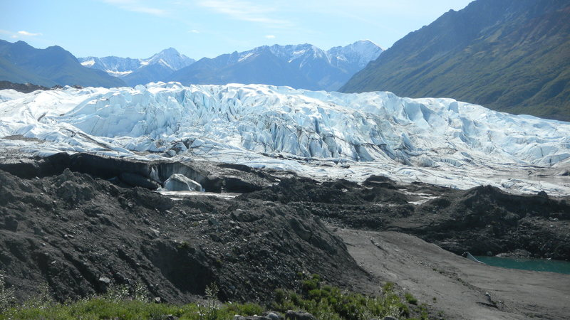 Hiking out to the Mat-Su glacier