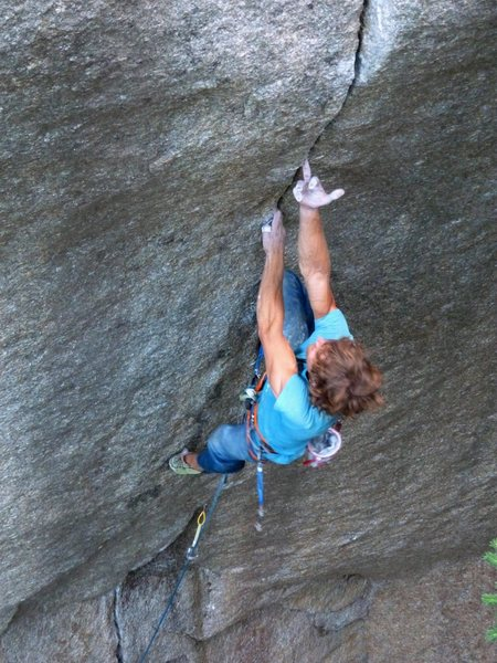 Rock Climbing Photo: Siebe Vanhee goes for the mono move on the Cobra C...