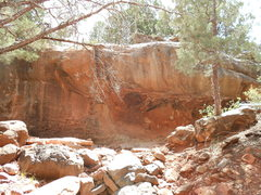Rock Climbing Photo: The Amphitheater at right, Orb Weaver just to the ...