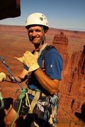 Rock Climbing Photo: Hanging out on the Titan in the Fisher Towers, Uta...