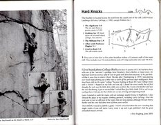Rock Climbing Photo: This is the topo for Hard Knocks.  The boulder opp...