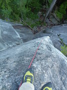 Rock Climbing Photo: Looking down the arete from top