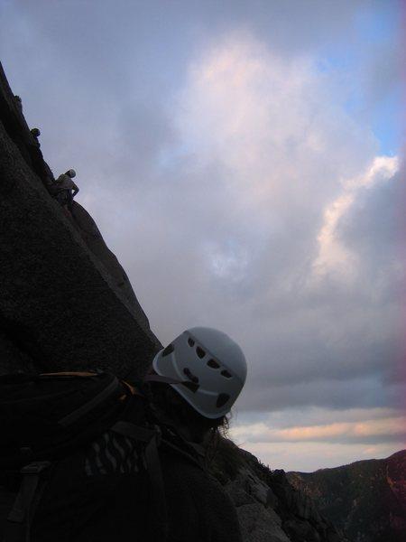 Rock Climbing Photo: Night falls on the log jam.