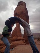 Rock Climbing Photo: Delicate Arch, Sturdy Arch.