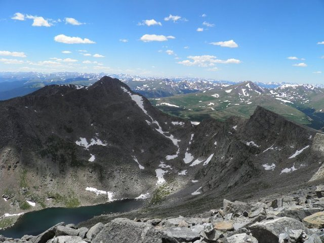 The Sawtooth, from Mt. Evans.