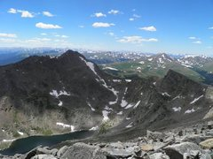 Rock Climbing Photo: The Sawtooth, from Mt. Evans.