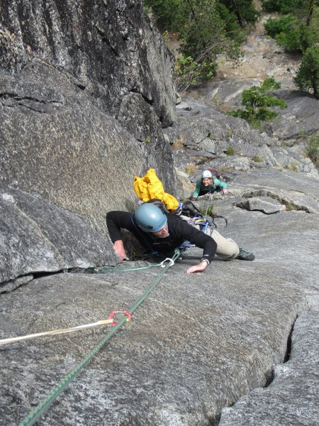 Rock Climbing Photo: Doug and Kristen following P2