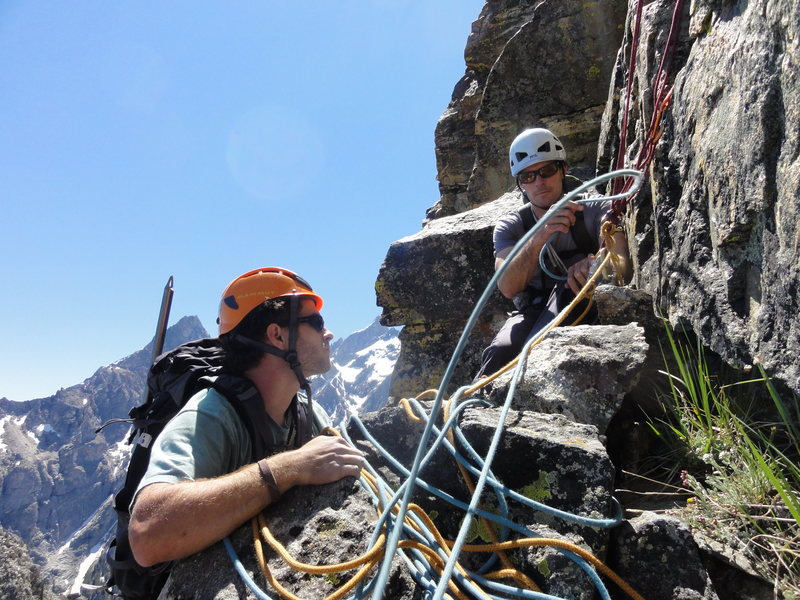 Rock Climbing Photo: Rope management is everyone's responsibility!