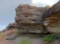 Rock Climbing Photo: Bob's Nose (V0) climbs up the jugs at the lip of t...