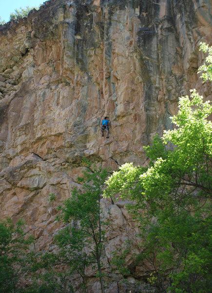 Rock Climbing Photo: Mid-crux on Hal 9000.