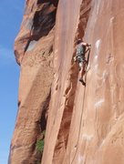 Rock Climbing Photo: Lee working the crux.