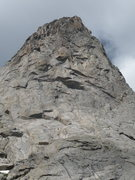Rock Climbing Photo: The formidable headwall of the east Face. ITTIA cl...