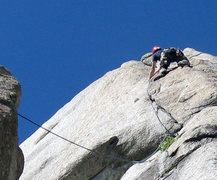 Rock Climbing Photo: Loving the lead on Hand Jive (5.9). Little Cottonw...