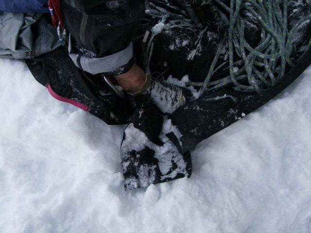Rock Climbing Photo: February rock climbing in N.-B.