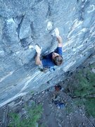 Rock Climbing Photo: Nick Stayner near the crux. Ryan Minton photo.