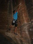 Rock Climbing Photo: The first deadpoint.