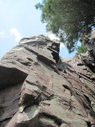 Rock Climbing Photo: Go straight over the small roof.