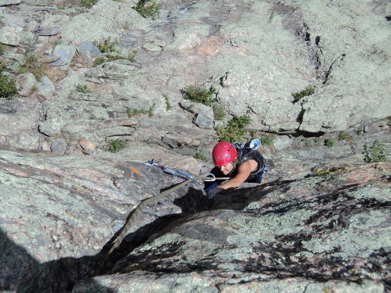 Deb fighting hard on her favorite climb.