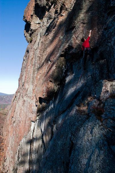climbing at shelving rock