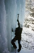 Rock Climbing Photo: Feeling out the overhanging start to the second pi...