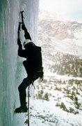 Rock Climbing Photo: Iron-hard ice on Dismas' second pitch.