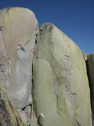 Rock Climbing Photo: Tara Misiewicz belaying Jared Vagy is some squeeze...