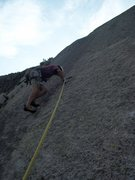 Rock Climbing Photo: Mike Zarnowski about to Red Point!