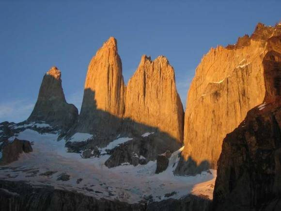 Torres Del Paine in Patagonia.  My wife and I hiked up in the early morning to snag this shot.