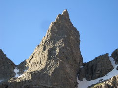 Rock Climbing Photo: The route follows the buttress in the sunlight on ...